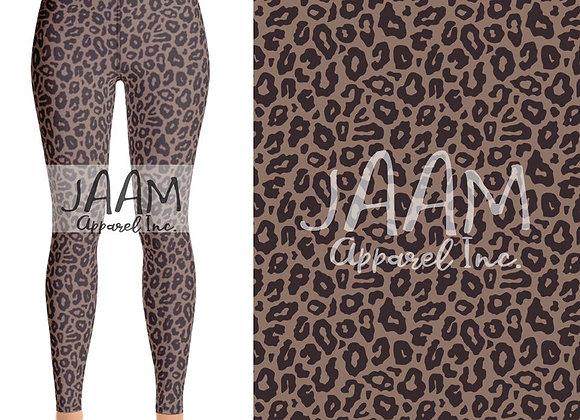 Giraffe Print w/ Black Yoga Waistband
