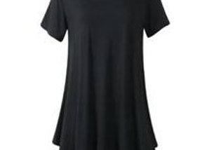 Black Scoop Neck Tunic