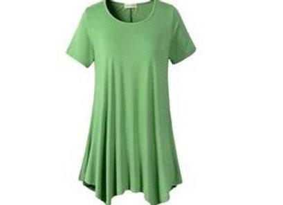 Green Scoop Neck Tunic