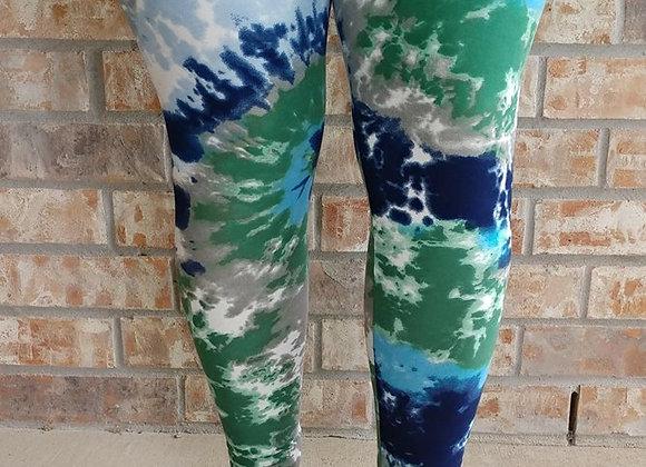 Green/Blue Tye Dye