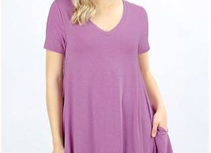 Dark Mauve Tunic w/ Pockets