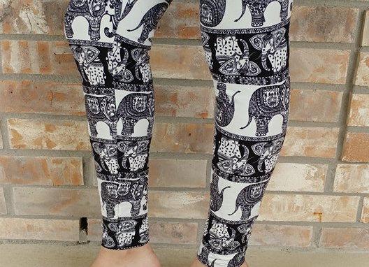 Oriental B&W Elephants