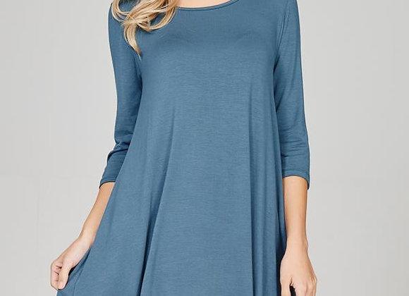 Blue Steel Swing Dress