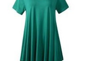 Deep Green V-Neck Tunic