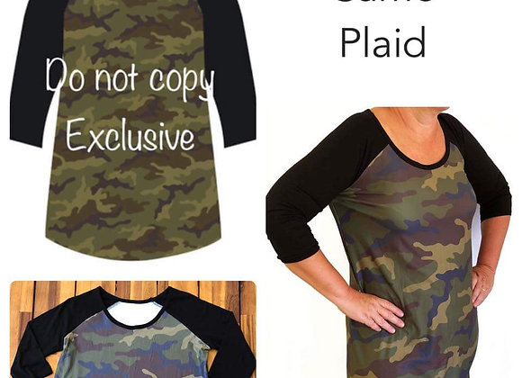 Camo Plaid Raglan