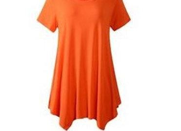 Orange Scoop Neck Tunic
