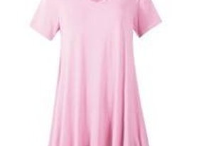 Pink V-Neck Tunic