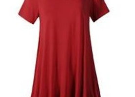 Wine V-Neck Tunic