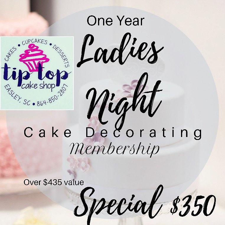 Ladies Night Cake Decorating Membership