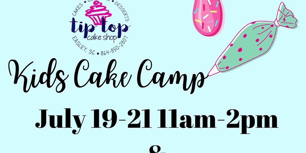 Kids Cake Camp July 19-21