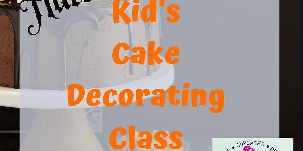 Kids Halloween Cake Decorating Class