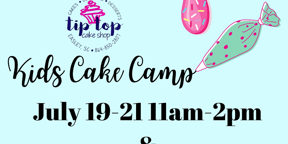 Kids Cake Camp July 26-July 28