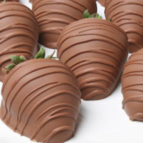 1 Dozen Milk Chocolate Covered Strawberries