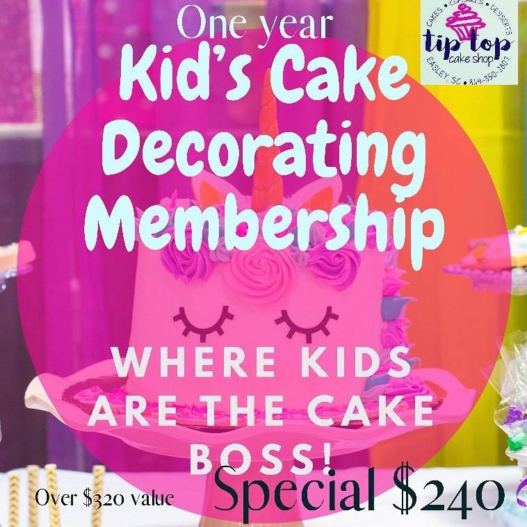 Kids CakeDecorating Membership