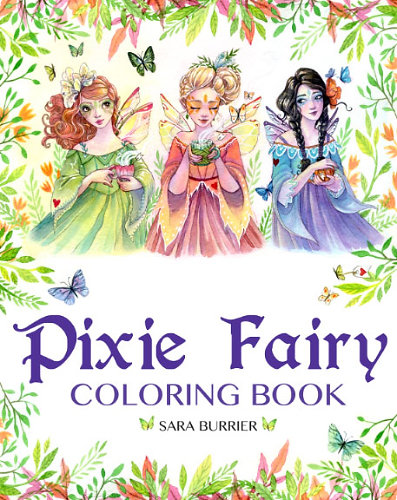 pixie fairy coloring book - Fairies Coloring Book