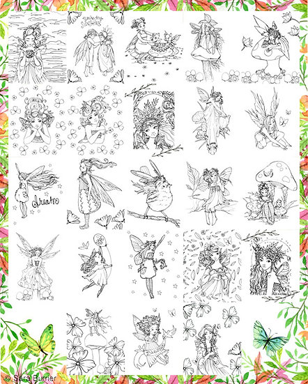 pixie fairy coloring book - Fairy Coloring Book