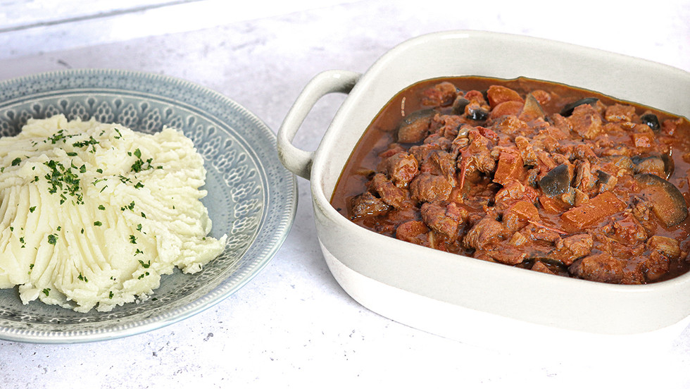 Beef and Aubergine in Red Wine