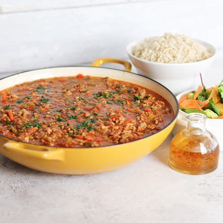 Turkey Chilli with Brown Rice
