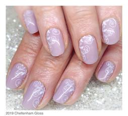 Natural nails with Urban Graffiti gel polish and stamping
