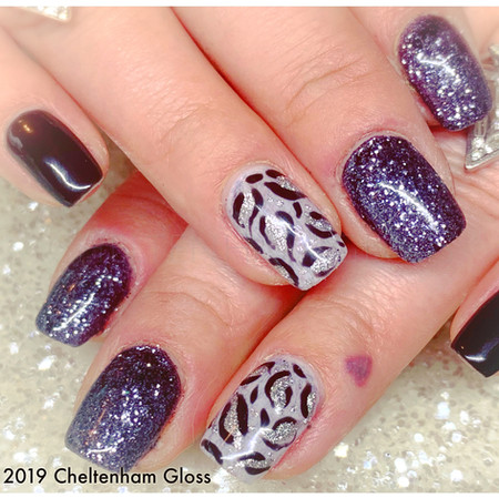 Urban Graffiti gel polish on natural nails