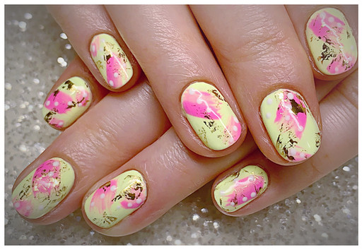 The Gel Bottle abstract design on natural nails