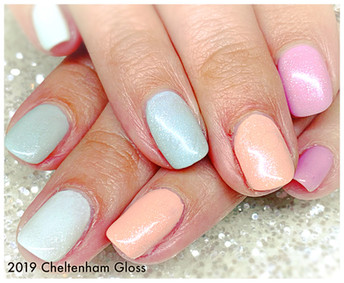 Custom Blended shades on natural nails