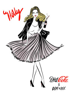 Holly Willoughby for Diet Coke
