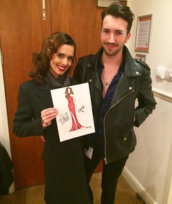 Cheryl with her illustration