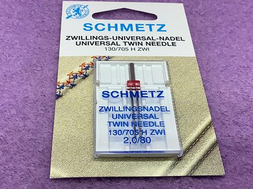 Schmetz Zwillingsnadel Universal 2,0 mm Stärke 80