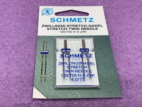 Schmetz Zwillingsnadel Stretch Nadel 4,0 mm Stärke 75