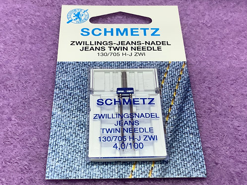 Schmetz Zwillingsnadel Jeans- 4,0 mm  Stärke 100