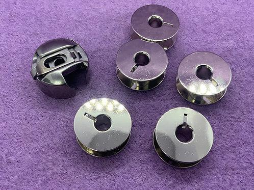 Spulenkapsel + 5 Spulen  für Pfaff Nähmaschinen