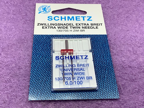 Schmetz Zwillingsnadel Universal 6,0 mm Stärke 100
