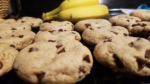 Banana chocolate chip cookies (6)