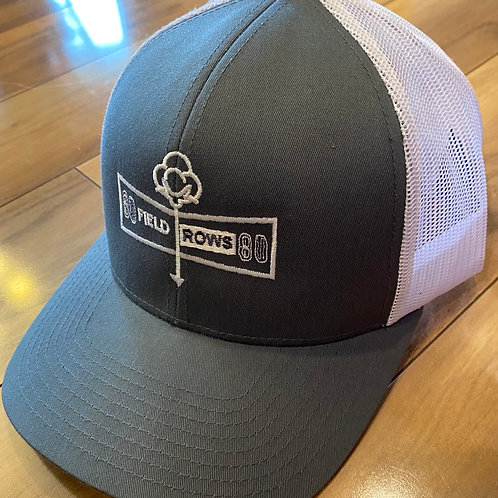 Grey/White Field Rows Hat
