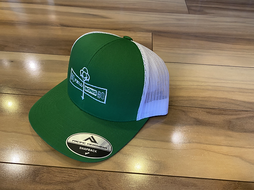 Green/White Fieldrows Hat