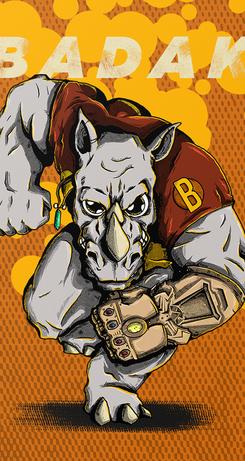 Mascote Badak
