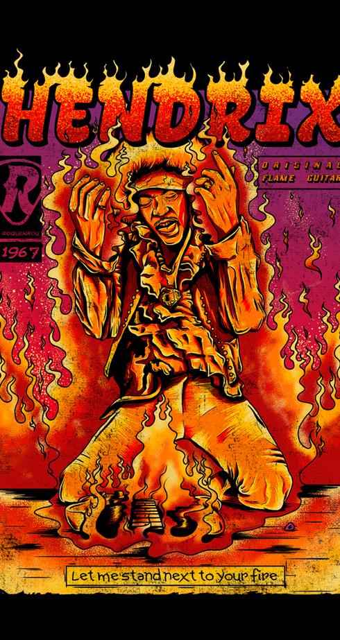 Hendrix - The Flame Guitar