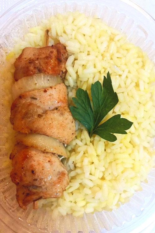 Куриный шашлычок с рисом