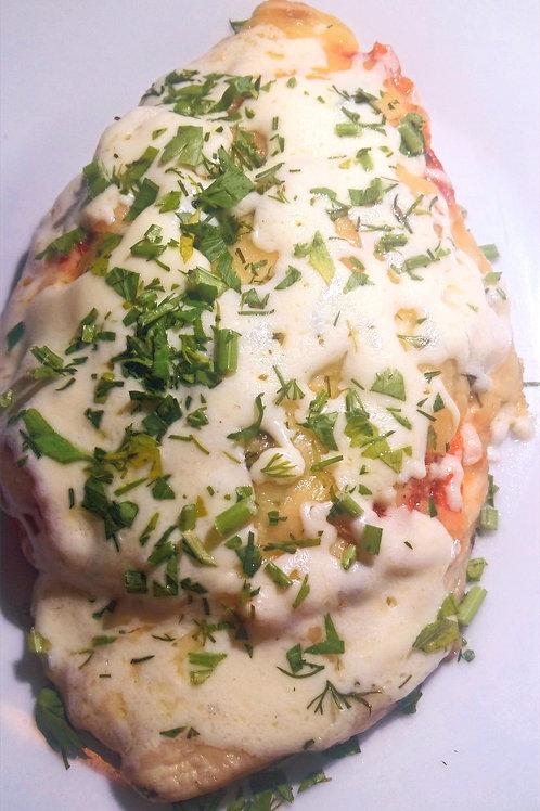 Отбивная из свинины в сырном кляре с картофельным пюре