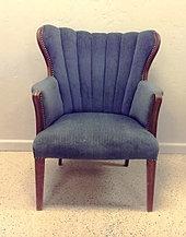 Beautiful Eleanor Green Clam Shell Chair