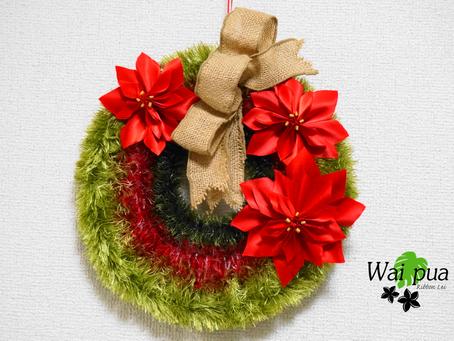 Christmas Poinsettia Wreath【クリスマスポインセチアリース】