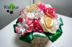 Frill flower&rose Basket