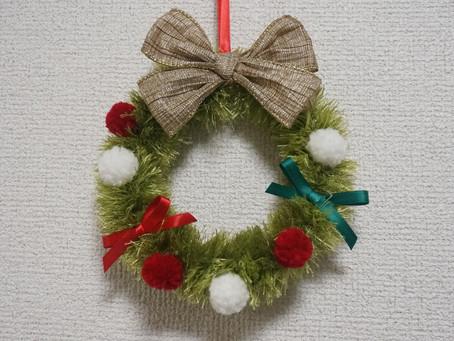 12/15㈯大阪福島区クリスマスワークショップ②☆リボンレイ