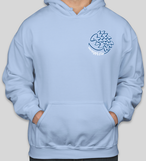 Sky Blue Save the Pangolins Hoodie