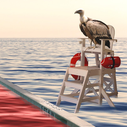 Detail / Lifeguard - Grand Hotel Mediterrareo Collection (2017) by Alessandro Federico-Veca