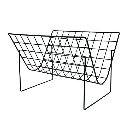 HK Living - metal wire magazine rack matt black