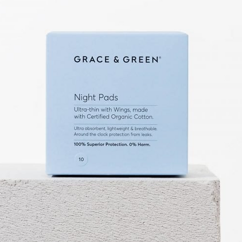 Grace and Green - Organic Night Pads with Wings