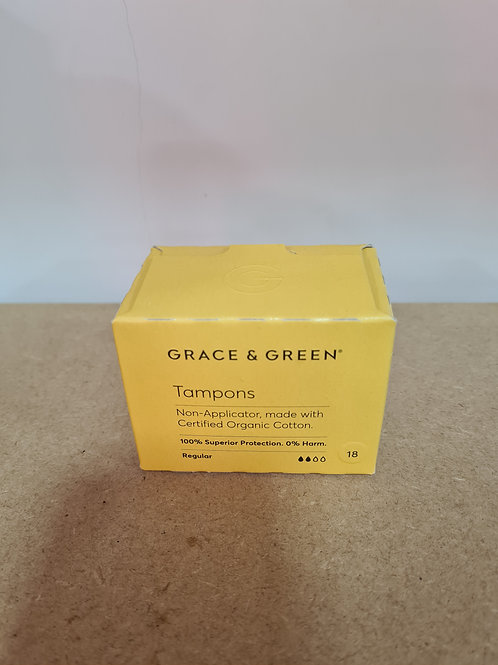 Grace and Green - Organic Non-Applicator Tampons Regular