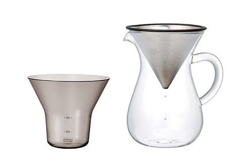 Kinto - SCS-04-CC-ST coffee carafe set 600ml Stainless steel